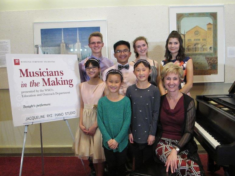 Jacqueline and students at Musicians in the Making, May 2019